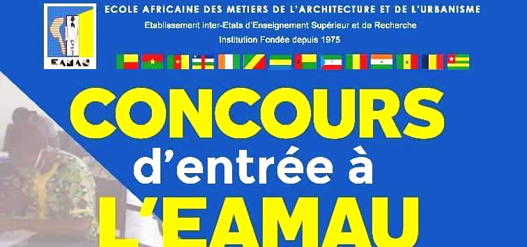 Concours d'entrée à l'EAMAU édition de 2021